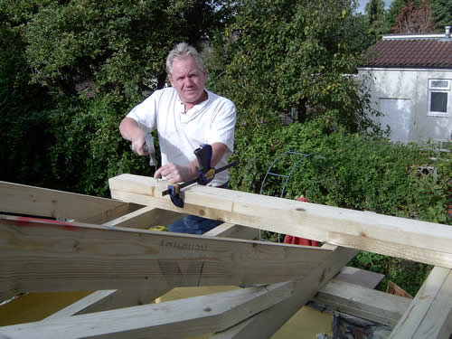 glyn working on a roof