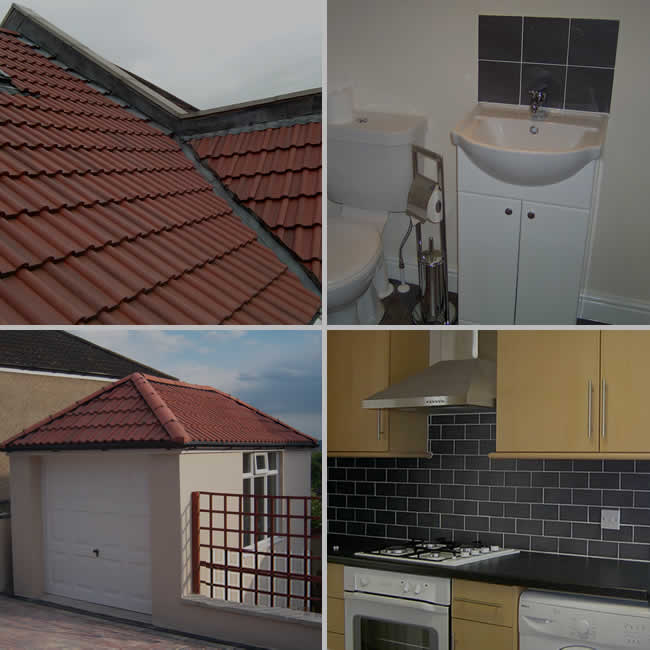 kitchens, roofs, bathrooms, extensions